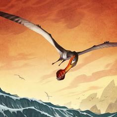 *Ornithocheirus out for a soar. Art by Johan Egerkrans. Dinosaur Sketch, Dinosaur Art, Jurassic Park World, Extinct Animals, Game Concept Art, Prehistoric Creatures, Creature Feature, Fantasy Creatures, Cool Artwork