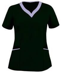 Resultado de imagen para uniformes medicos con cuello chino Staff Uniforms, Medical Uniforms, Scrubs Uniform, Scrub Tops, Refashion, Work Wear, Casual, How To Wear, Outfits
