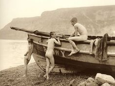 ''In Puris Naturalibus'' Staithes - North Yorkshire - England - Late 1800s