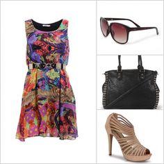 Esse vestido estampado é super jovem e moderno. http://tempodemoda.climatempo.com.br/Recife