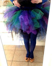 how i keep sane: Adult Tutu Tutorial Peacock Costume