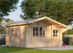 Log cabin BENINGTON 4.5m x 3m (15' x 10') 34mm