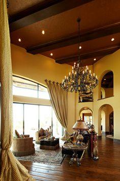 Carter Ranch mediterranean family room