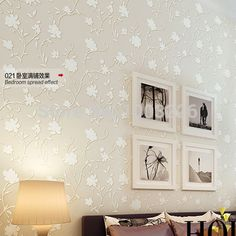 56.76$  Watch here - http://alijvq.worldwells.pw/go.php?t=32291354469 - Flocking contact paper mural Wallpaper roll 3D Non-woven Wall Papers For Bedroom Home Decor Vintage papel de parede photo murals