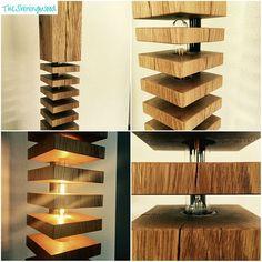 Floor lamp in oak/wood-wooden floor lamp-led vintage filament lamp Solid Wood Flooring, Stone Flooring, Lampe Led, Led Lamp, Wooden Floor Lamps, Driftwood Lamp, Craftsman Furniture, Handmade Lamps, Light Fixtures