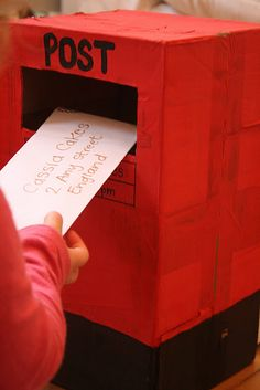Cardboard PO Box & letters