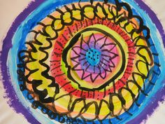 Cassie Stephens: In the Art Room: A Flower-y Mural for Dot Day Projects For Kids, Art Projects, Weather Art, International Dot Day, Elementary Art Rooms, Cassie Stephens, Flower Mural, 2nd Grade Art, Painted Plates