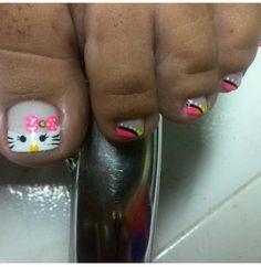 Y corasion para la próxima decoración Toe Nail Color, Toe Nail Art, Toe Nail Designs, Get Nails, Hair Beauty, Makeup, Pretty Pedicures, Feet Nails, Nail Bling