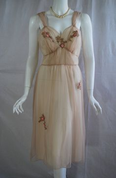 1950s Artemis Peignoir Set, Cocoa Brown, Nightgown and Robe, 36