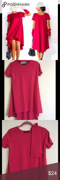 ❤️HP❤️Pink Woman Party Dress Elegant, Loose Design.  All sizes here.Please check the last photo for measurements  1 inch=2.54 cm Dresses Mini