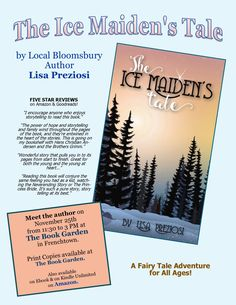 "Author Event for ""The Ice Maiden's Tale""  November 25, 2017 Time: 11:30 AM to 3 PM ""The Book Garden""  28 Bridge Street, Frenchtown, NJ 08825"