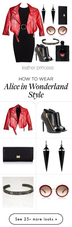 """leather princess"" by josielatorres on Polyvore featuring MANGO, Oasis, Tom Ford, Dolce&Gabbana and Yves Saint Laurent"