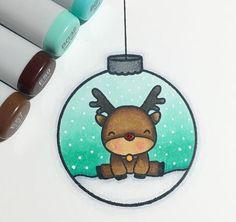 Bleistiftzeichnung - Wie zeichnet man ein Reh in einer Kugel. 鉛筆画-ボールに鹿を描く方法。 #ボール#鹿. Kawaii Drawings, Easy Drawings, Pencil Drawings, Sharpie Drawings, Christmas Drawing, Christmas Art, Christmas Doodles, Watercolor Christmas, Christmas Journal