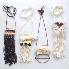 Weave necklaces. Mjdweavings