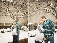 kelsey + tom :: winter wonderland maternity session