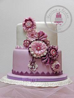 Violet romance..  - Cake by Tynka