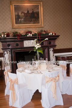 Round head table, Samuels Restaurant, Swinton Park