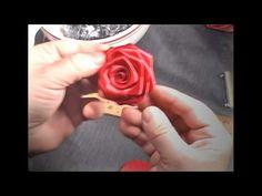 FINALLY SOMETHING THAT HELPS!  ----------------------------------------------------------  How to make Ribbon Rose, Tutorial, DIY