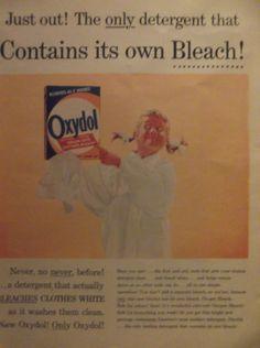 OXYDOL lessive des années 1950 Original détergent publicité Vintage Laundry Room…