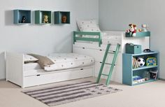 Bahia XL Block single bed with frieze with 4 drawers and chest by Asoral - Bobo Kids