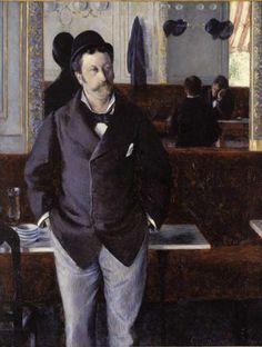 Gustave Caillebotte  Dans un café - 1880.