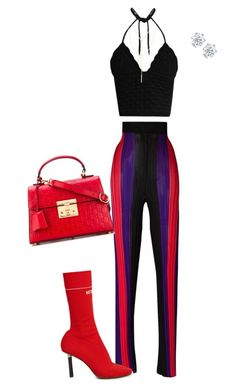"""Saturday night sporty"" by reginefashionsense on Polyvore featuring mode, Balmain, Vetements, RED Valentino, South Moon Under et Gucci"