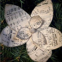 This Sheet Music Magnolia Ornament is so delicate and pretty. Use sheet music for your favorite Christmas carol to make it extra festive.