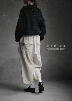 【楽天市場】【送料無料】Joie de Vivreフランダースリネン硫化染めバックポケットエドワードパンツ:BerryStyleベリースタイル New Outfits, Cool Outfits, Fashion Outfits, Womens Fashion, Modern Witch Fashion, Japan Fashion, Feminine Style, Fashion Stylist, Simple Dresses