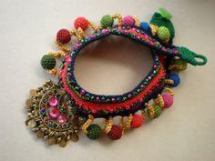 Old World - Earth Freeform Crochet Necklace | Flickr: Intercambio de fotos