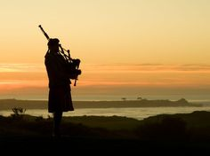 Every evening at the Inn at Spanish Bay, in Pebble Beach, California, a bagpiper roams the golf course playing the pipes as the sun dips into the Pacific.