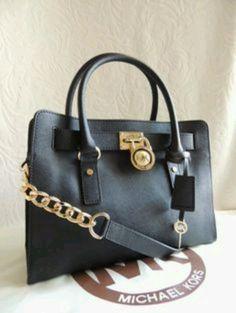 316362a82fcc Gorgeous Classy Elegant Michael Kors E W Black Leather Satchel Handbag   Michaelkors  leatherbags
