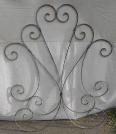 Vintage Aluminum Screen Door Guard Grille Decorative