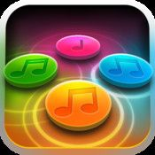 """Rhythm Repeat by Filco Games.  Free.  A fun game that tests your rhythmic memory.  Tap back the correct rhythm on the correct buttons and the app makes it sound like a piano, drumset, or guitar.  You don't have to remember the order of the colors, like """"simon,"""" just the rhythm.  A study once showed that the ability to perform complex rhythms was linked with mathematical computation skills."""