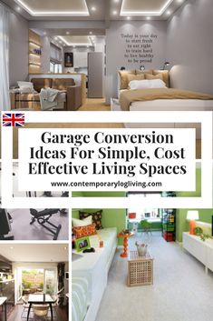Garage Conversion Ideas For Simple Cost Effective Living Spaces. Most garage conversions in the UK come under Permitted Development if you do not extend the original size. Easily convert your garage s Garage Renovation, Garage Remodel, Garage Makeover, Garage Interior, Interior Ideas, Convert Garage To Bedroom, Garage Bedroom, Garage To Living Space, Living Spaces