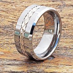 Tungsten Wedding Rings for Men Eternity Ring Inlay Ring Silver Wedding Bands, Wedding Men, Black Rings, Silver Rings, Tungsten Wedding Rings, Braided Ring, Personalized Rings, Engraved Rings, Eternity Ring