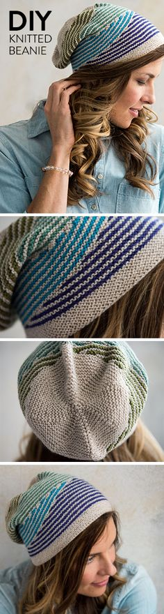 Start prepping for cooler months with the Dazzle Hat Knitting Kit. This striped slouchy beanie will keep you warm and fashionable through the winter. Mini skein approved!