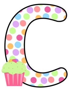 Abecedario con Lunares de Colores y Cupcakes. Alphabet with Colored Polka Dots and Cupcakes. - Oh my Alfabetos! Scrapbook Letters, Letter Symbols, Abc For Kids, Letter Balloons, Monogram Alphabet, Minnie, Letters And Numbers, Free Printables, Birthday Cards