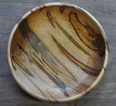 Handcrafted Ambrosia Maple Bowl. 2015/1