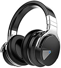COWIN Active Noise Cancelling Bluetooth Headphones with Microphone Hi-Fi Deep Bass Wireless Headphones Over Ear, Comfortable Protein Earpads, Playtime for Travel Work TV Computer Iphone - Black: Electronics Best Bass Headphones, Best Earbuds, Headphones With Microphone, Headphone With Mic, Bluetooth Headphones, Wireless Headphones, Over Ear Headphones, Electronics Projects, Smartwatch