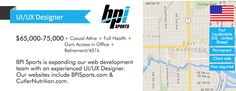 JOB: UI/UX Designer required in Hollywood, FL for BPI Sports. Perm role, to $50k. http://www.uxswitch.com/jobs/14697/?utm_content=buffer073c0&utm_medium=social&utm_source=pinterest.com&utm_campaign=buffer #uxjobs