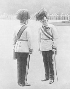 Emperor Franz Joseph I of Austria, 10 days before the murder of his grand-nephew and heir Archduke Franz Ferdinand. It was his first public appearance after an illness.