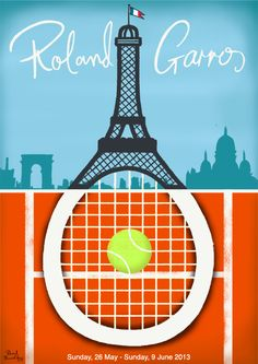 Roland Garros Poster by Paul Thurlby