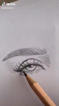 Art Drawings Beautiful, Art Drawings Sketches Simple, Pencil Art Drawings, Realistic Drawings, Sketch Art, Pencil Sketching, Eye Sketch, Beautiful Sketches, Portrait Sketches