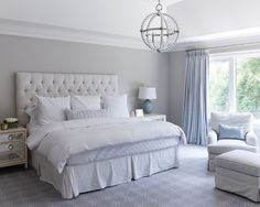 Architecture Cornflower Blue French Pleat Curtains Gray Bedroom Walls Mir Ideas With Grey