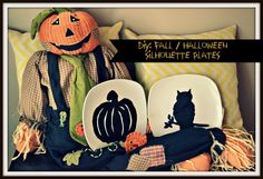 DIY: Fall / Halloween Silhouette Plates