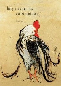 CT050 Rooster rise again card by Shannon Troxler