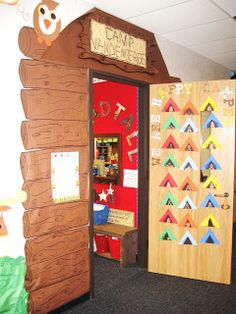 homemade logs out of brown bulletin board paper - use for treehouse rope ladder