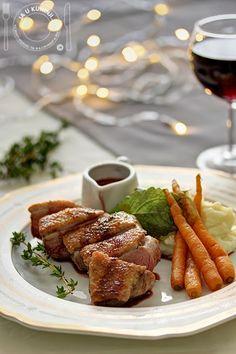 Pačija prsa u sosu od crvenog vina Wine Sauce, Food Inspiration, Red Wine, French Toast, Dinner, Cooking, Breakfast, Recipes, Dining