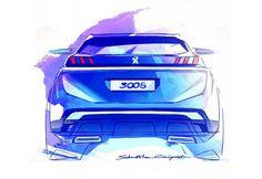 Peugeot 3008 Design Sketch