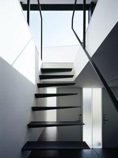 Escada de um café